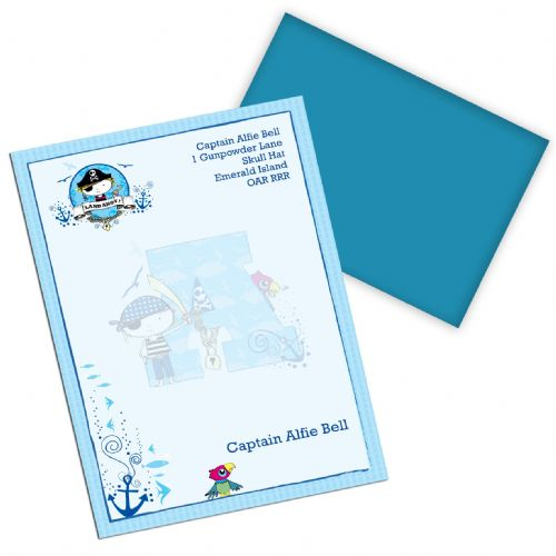Personalised Pirate Letter Stationery Set